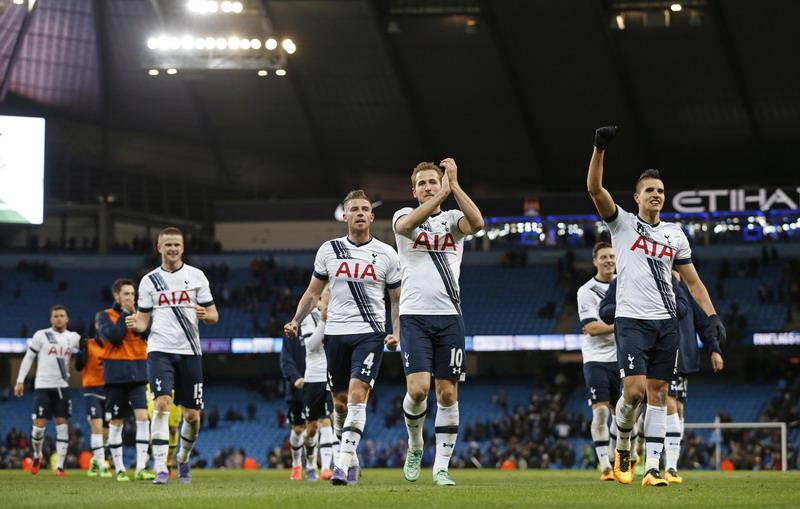 Tottenham saat menang di Etihad Stadium pada 2016. (Foto: REUTERS/Lee Smith)