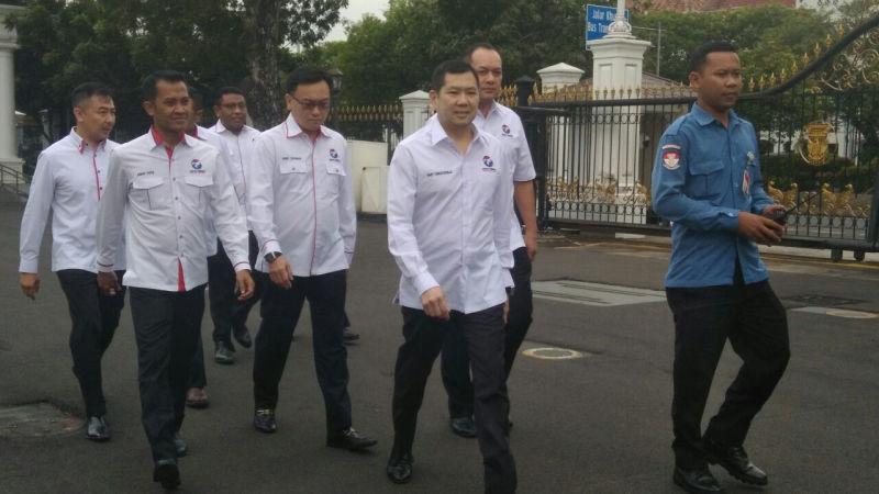 Partai Perindo diterima Presiden Jokowi di Istana (Foto: Fakhri/Okezone)