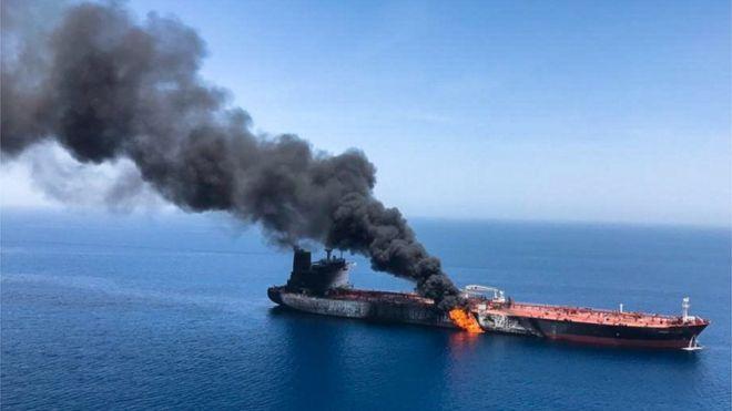 Kapal tanker Jepang di Teluk Oman