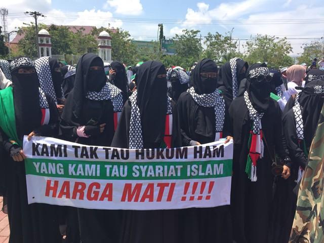 Demo ricuh di Aceh foto: Khalis/Okezone