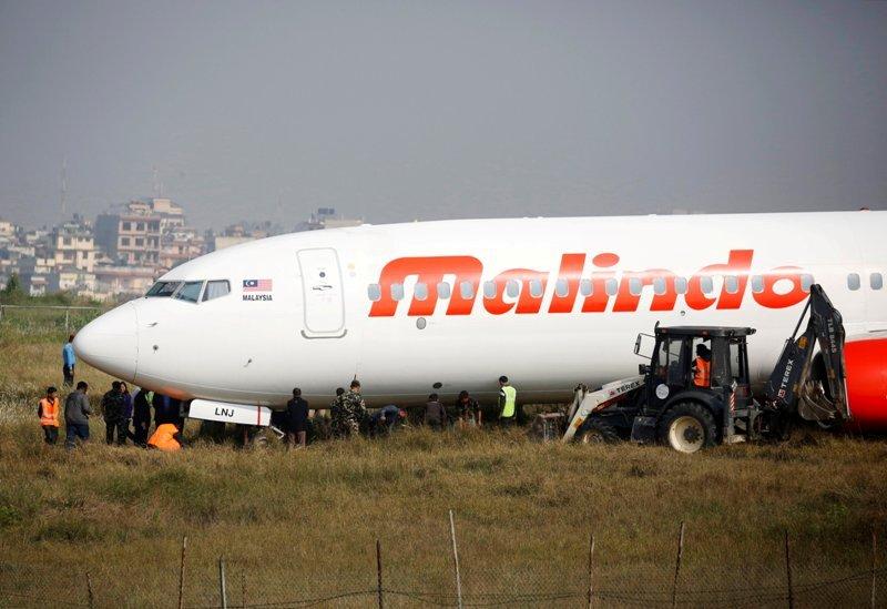 Pesawat milik Malindo Air tergelincir di Nepal