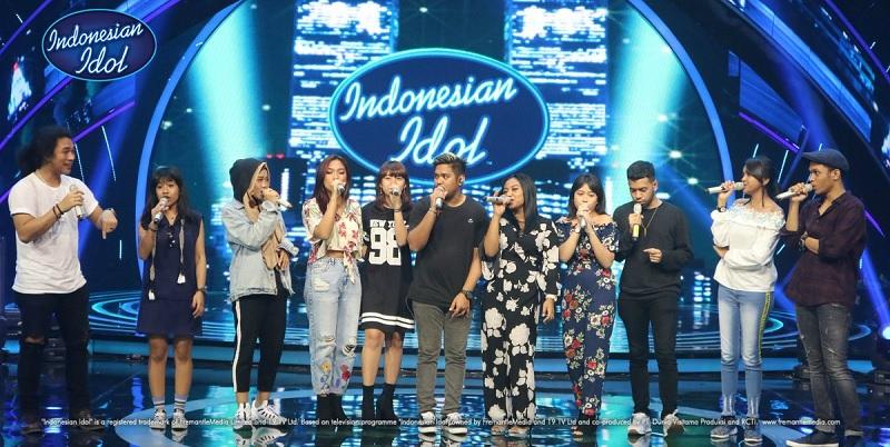 Para kontestan dan finalis Indonesian Idol