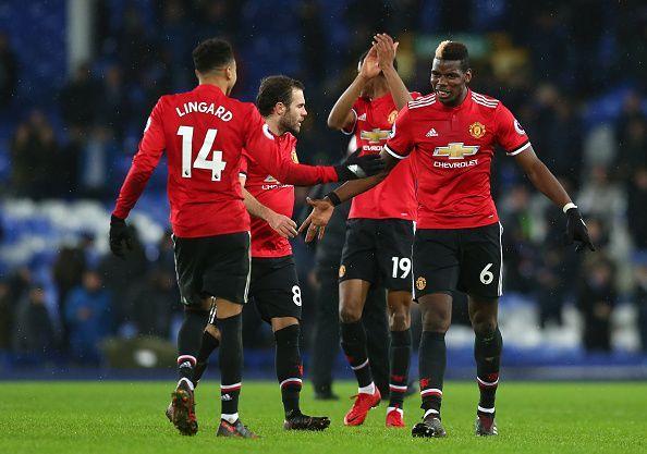 (Para pemain Manchester United. Foto: AFP)