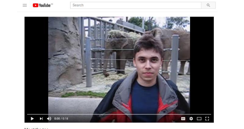 Video YouTube Tertua