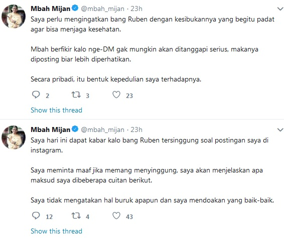 Twitter Mbah Mijan