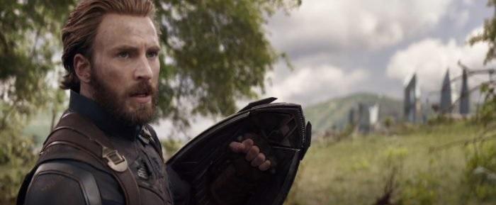 Chris Evans sebagai Captain America di Infinity War