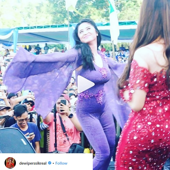 Image result for Gara-Gara Goyang Seronok, Dewi Perssik Dikecam Netizen