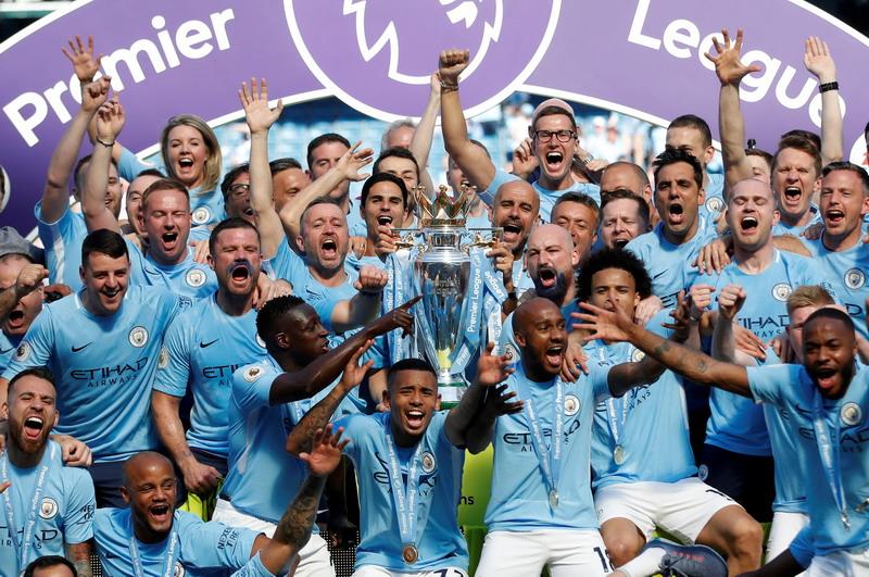 Manchester City juara Liga Inggris 2017-2018