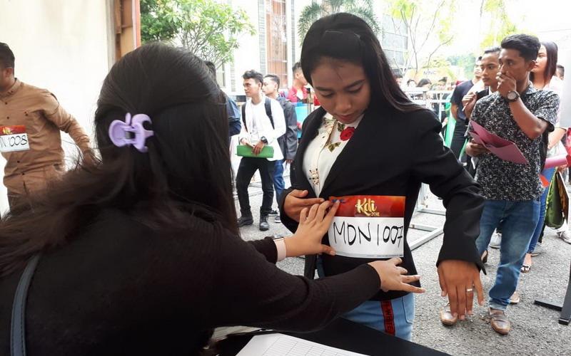 Keramaian audisi saat di Medan