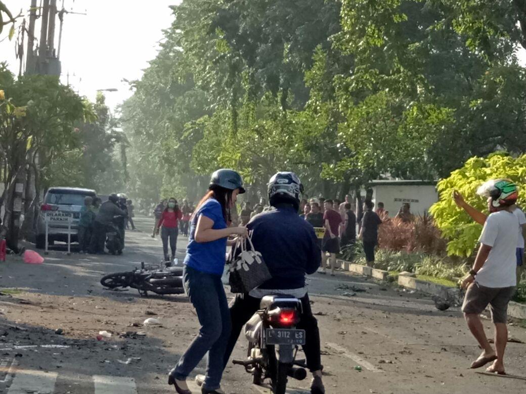 Ledakan gereja di Surabaya. Foto: Ist