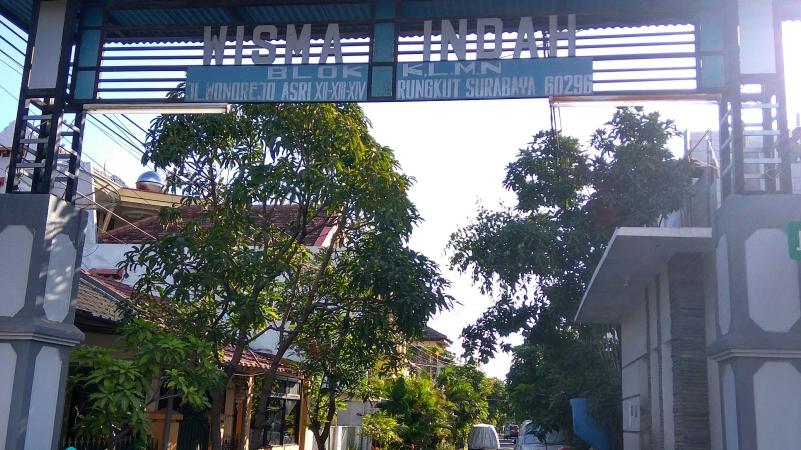 Perumahan tempat tinggal pelaku bom gereja. Foto: Avirista/Okezone