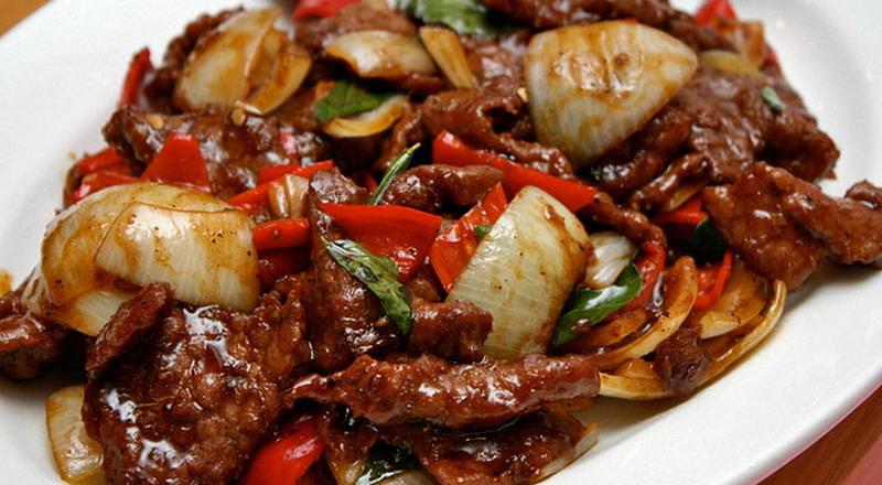 Tumis dendeng daging sapi (loexie)