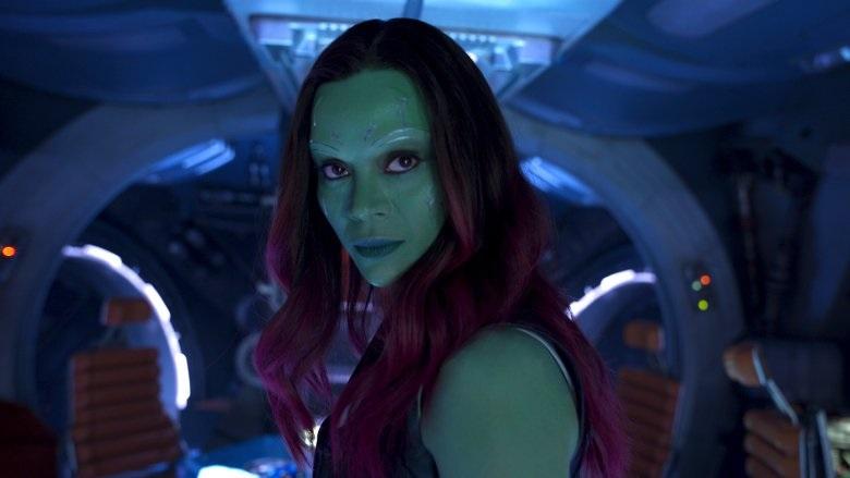 Zoe Saldana sebagai Gamora