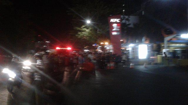 Lokasi penemuan koper diduga bom di Manado. Foto: Okezone/Subhan Sabu
