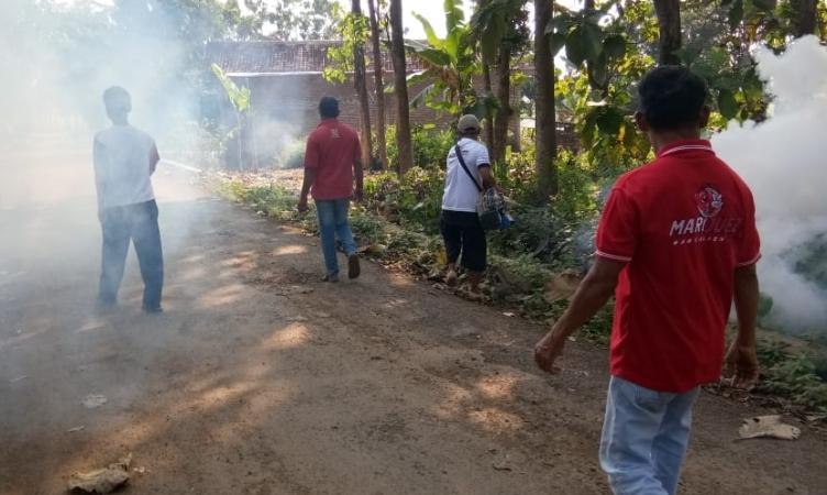 Fogging Perindo di Pemalang. Foto: Bramantyo/Okezone