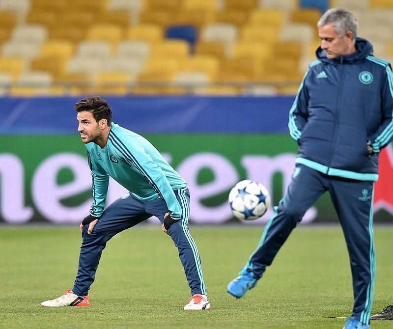 Cesc Fabregas dan Jose Mourinho