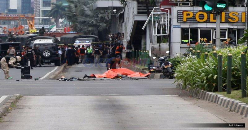 Bom Thamrin. Foto: Okezone/Arief Julianto