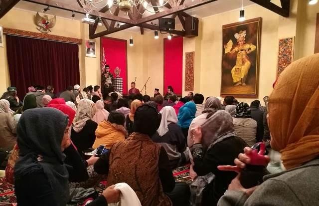 Acara tarawih keliling di KBRI Selandia Baru. Foto Okezone