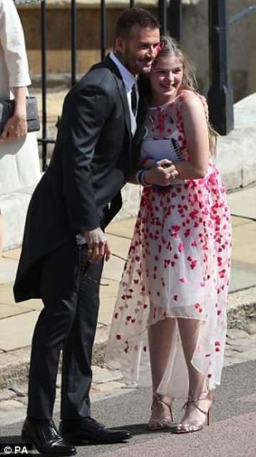 David Beckham dan Amelia Thompson. (Foto: Daily Mail)