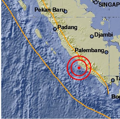 Gempa di Bengkulu. Foto: BMKG