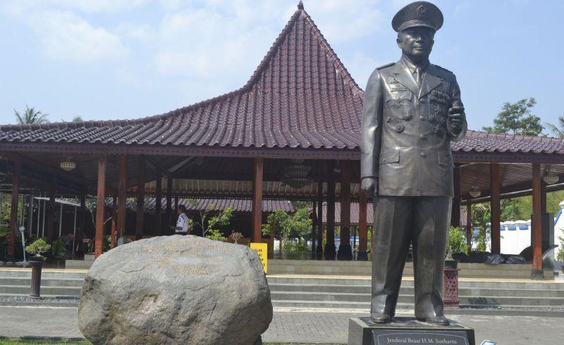 Monumen Soeharto di Dusun Kemusuk, Desa Argomulyo, Kecamaan Sedayu, Kabupaten Bantul, Daerah Istimewa Yogyakarta. Foto: Okezone
