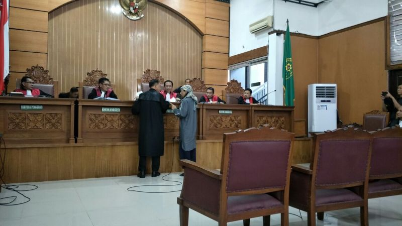 Sidang terdakwa Aman Abdurrahman. (Foto: Harits Tryan Akhmad/Okezone)