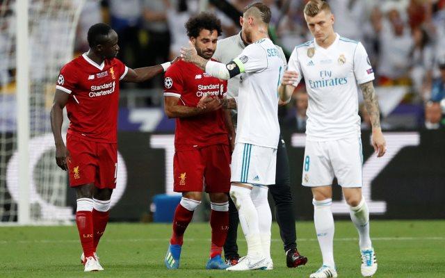 Sergio Ramos usai membuat Mo Salah cedera