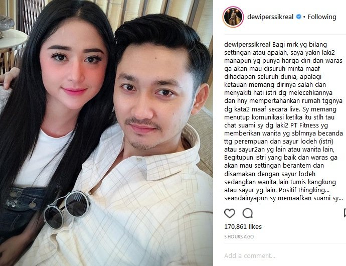 Dewi Perssik dan suami