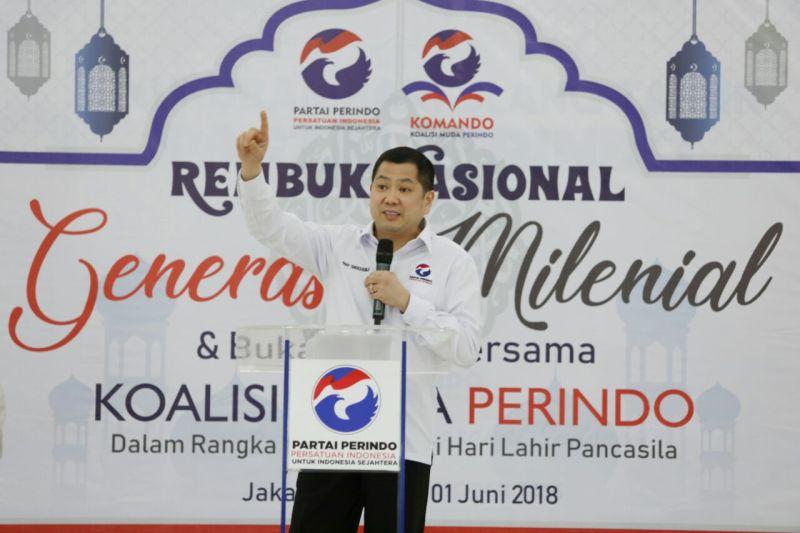 Ketua Umum Partai Perindo Hary Tanoesoedibjo i Rembuk Nasional Komando se-Indonesia (foto: Ist)