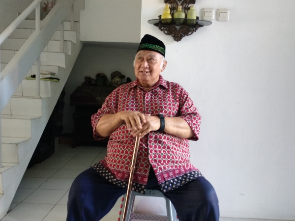 Pria mirip Pak Harto viral. Foto: Hambali/Okezone
