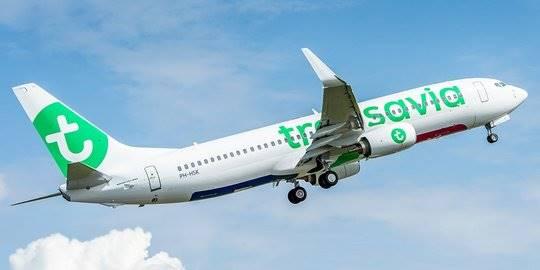 Pesawat Transavia. (Foto: Ist)