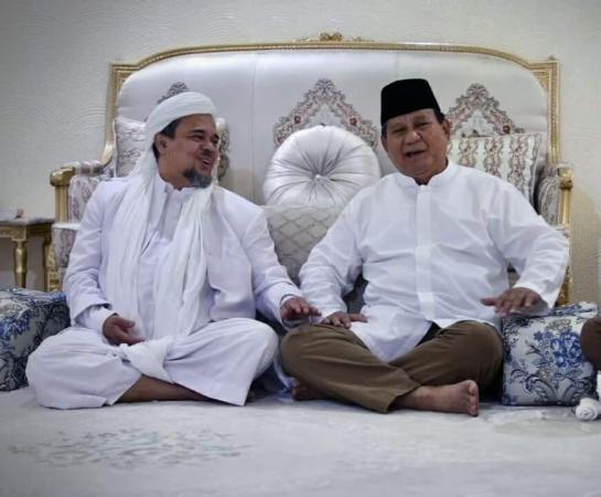 Prabowo bertemu Habib Rizieq. Foto: Ist