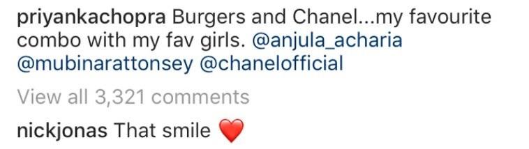 Komentar Nick Jonas di Instagram Priyanka Chopra
