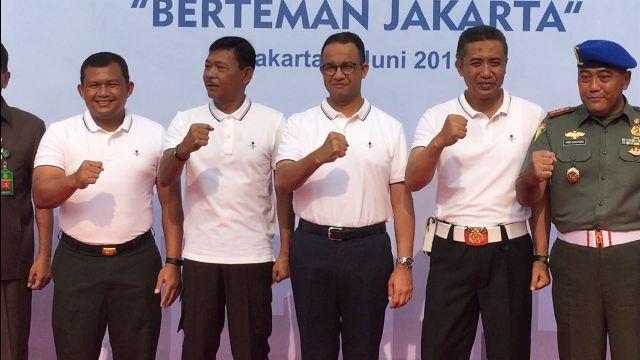 Peluncuran program Berteman Jakarta. (Foto: Badriyanto/Okezone)