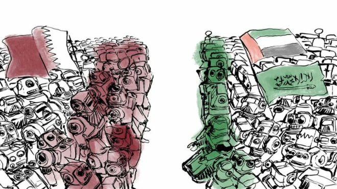 Ilustrasi Qatar dan Arab Saudi (foto: BBC)
