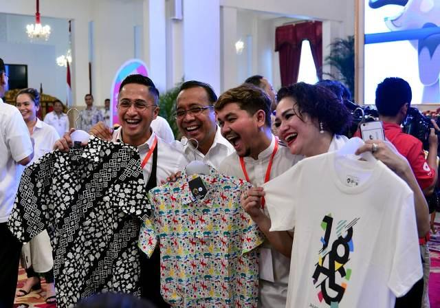 Jokowi kumpulkan artis dan seniman sukseskan Asian Games 2018