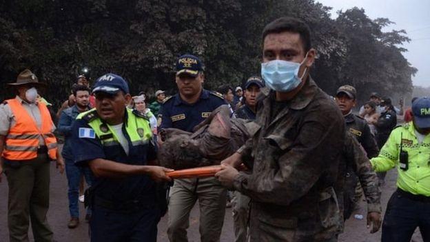 Korban letusan Gunung Fuego. Foto: EPA