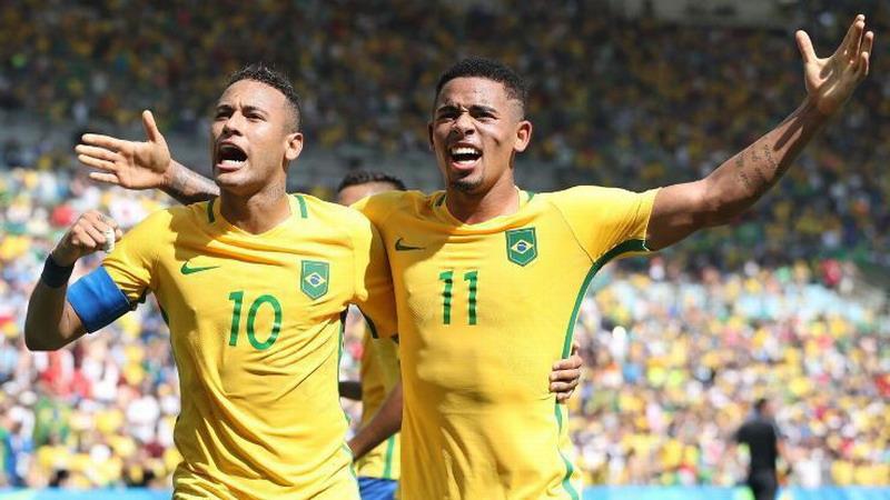 Neymar dan Gabriel Jesus