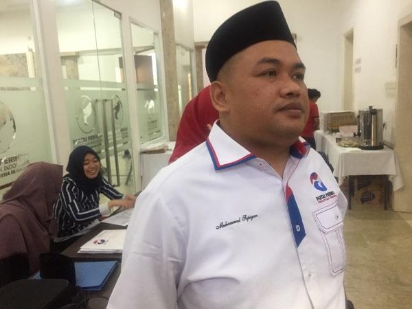 Wakil Sekretaris Jenderal DPP Partai Perindo, Muhammad Sopiyan. (Foto: Harits Tryan Akhmad/Okezone)