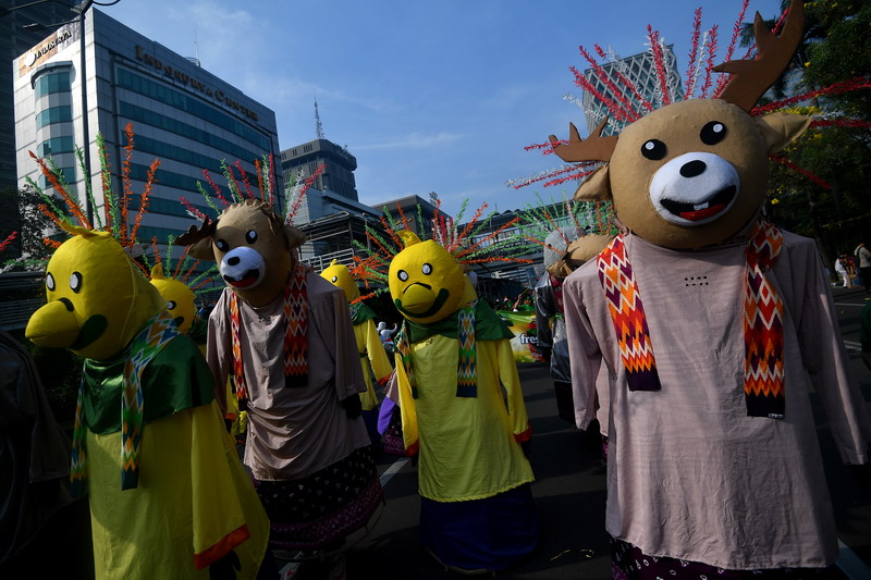 Parade Asian Games (Foto: Antara)