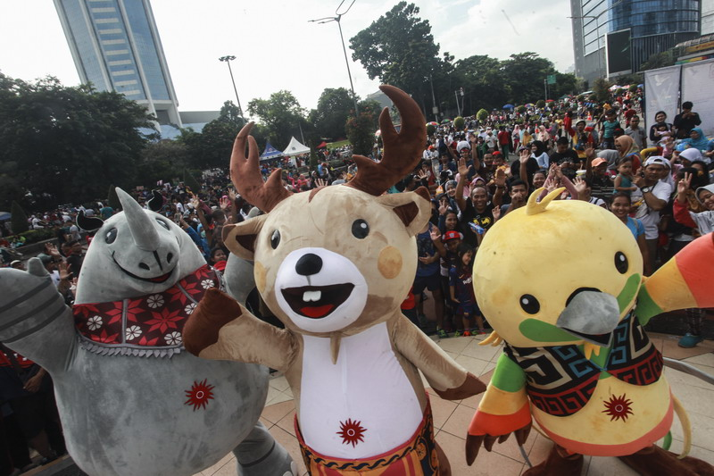 Maskot Asian Games (Foto: ANTARA)