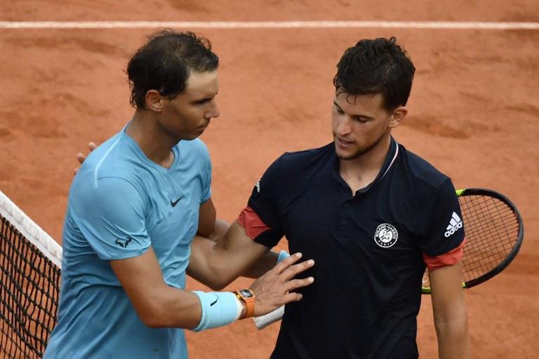 Dominic Thiem dan Rafael Nadal (Foto: AFP)