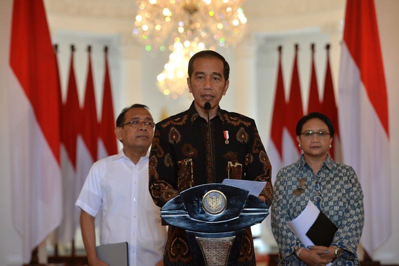 Keterangan Pers Presiden Jokowi soal Terpilihnya Indonesia Jadi Anggota Tidak Tetap DK PBB (foto: Antara)