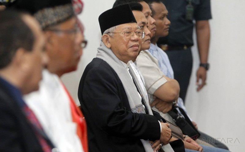 Ketua MUI KH Ma'ruf Amin (foto: Antara)
