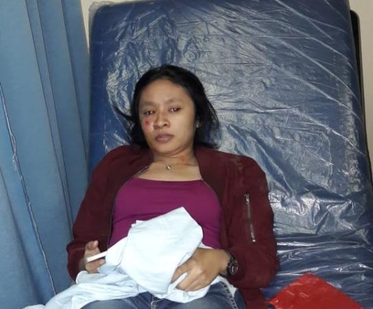 Korban copet di Bekasi. Foto: Wijayakusuma/Okezone
