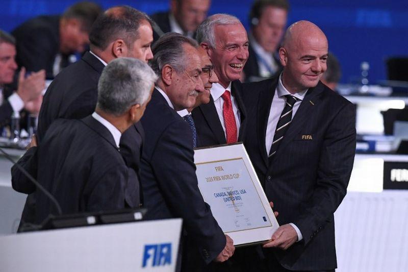 Momen Amerika Serikat, Meksiko, dan Kanada Terpilih Sebagai Tuan Rumah Piala Dunia 2026 (Foto: AFP)