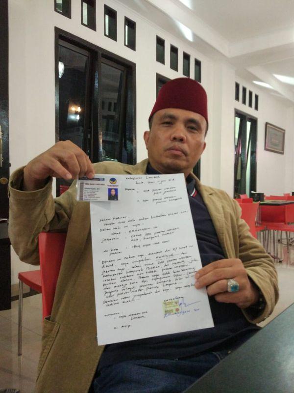 Ketua DPD Partai NasDem Lampung Barat, Erwansyah (foto: Tri Purna J/Okezone)