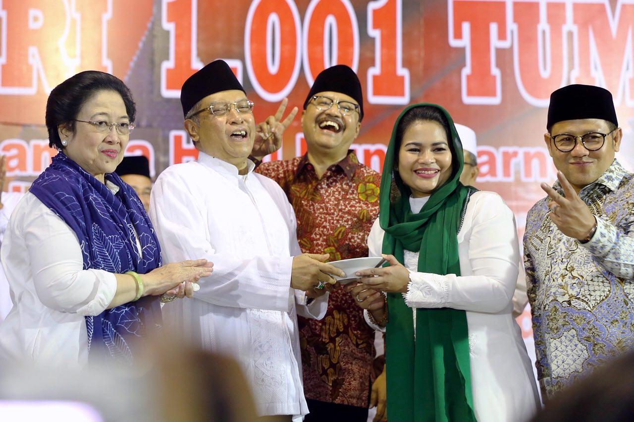 Gus Ipul-Pui bersama Megawati, Said Aqil, Cak Imin