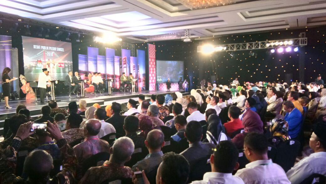 Debat Pilkada Sumatera Selatan (Foto: Melly Puspita)