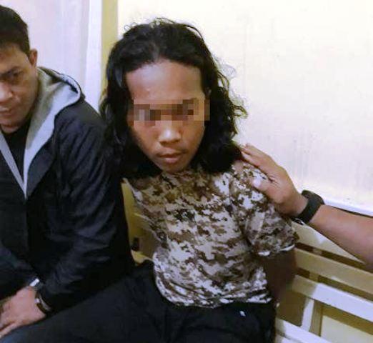 Terduga anggota jaringan ISIS. (Foto: Banda Haruddin Tanjung/Okezone)